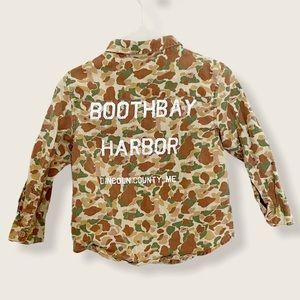 Zara Baby Camouflage Shirt 9-12 M